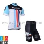 ชุดจักรยานแขนสั้น Bianchi 2014 สีดำขาว
