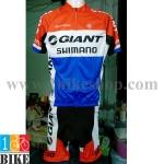 ชุดจักรยานแขนสั้น Giant 2015 สีแดงขาวน้ำเงิน