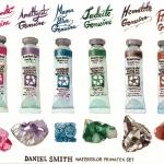 รีวิวสีน้ำ Daniel Smith (Primatek Set และ Essentials Set) พร้อม How to วาดใบไม้และก้อนหิน โดยน้องเนท Netchand