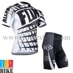ชุดจักรยานแขนสั้น FOX 2014 สีขาวดำ