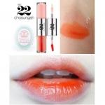 Chosungah22 Dual Lip Tint & Gloss # Lace สีส้ม ลิปกลอสผลิตจากเกาหลี ติดแน่น สีสวย คู่สีที่สวยลงตัวที่สุดแห่งปี ออกแบบมาเพื่อผิวสาวไทยให้หน้าดูสว่างขาวใสเหมือนสาวเกาหลีทันที ด้วยลิปทินต์สีส้มจี๊ดจ๊าดและลิปกลอสสีชมพูอ่อนใสแวววาว ริมฝีปากสดใสสไต