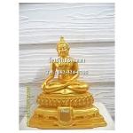 พระพุทธรูปปางมารวิชัย ( ปางสะดุ้งมาร ) ศิลปะเชียงแสน เนื้อเรซิ่น หน้าตัก 5นิ้ว สูง 10.5 นิ้ว (รวมฐาน)