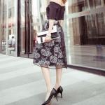 รองเท้าส้นสูงสีดำ หุ้มส้น หัวแหลม แนวหวาน เจ้าหญิง ส้นสูง8.5cm แฟชั่นเกาหลี