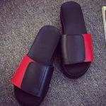รองเท้าแตะผู้หญิงสีแดง แบบสวม เปิดส้น พื้นหนา นุ่มสบายเม้า แบบลำลอง แฟชั่นเกาหลี
