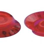 วอลุ่มกีต้าร์ไฟฟ้า สีแดงตัวหนังสือดำ LP Bell Knob Style LPB-07