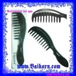หวีด้ามถือที่ช่วยทำให้ผมเรียบแบบเป็นเส้นๆ ( Hair brush tooth ) เพื่อช่วยทำให้ผมเรียบตรงและกระจายเส้นผมเป็นเส้นๆ สีดำ