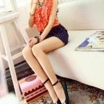รองเท้าส้นแบนผู้หญิงสีดำ หุ้มส้น หัวแหลม หนังแก้ว มีเข็มขัดรัดข้อเท้า น่ารักสไตล์เกาหลี