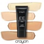 Crayon Extra Enrichment Cream SPF50 30ml. EE Cream (Extra Enrichment Cream) รองพื้นนวัตกรรมใหม่! เนื้อเนียนผสานครีมบำรุงเข้มข้น ให้การปกปิดเนียนสนิทแต่รู้สึกบางเบาเหมือนไม่ได้ทารองพื้น Pigment ความละเอียดสูงให้การปกปิดไร้ที่ติ