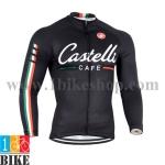 เสื้อปั่นจักรยานแขนยาว Castelli 2014 สีดำ