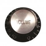วอลุ่มกีต้าร์ไฟฟ้า สีดำหน้าเงิน Vol LP