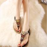 รองเท้าแตะรัดส้นสไตล์โบฮีเมี่ยน (สีดำ)