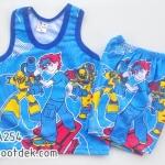 ไซด์ 6-9 เดือน ชุดเสื้อกล้ามกางเกงเบนเทน สีน้ำเงิน