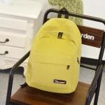 กระเป๋าเป้แฟชั่นสีเหลือง สะพายหลัง แบบซิป วัสดุไนลอนคุณภาพสูง ซับในโพลีเอสเตอร์ ใช้ได้ทั้งผู้หญิงผู้ชาย แฟชั่นเกาหลี สำเนา สำเนา