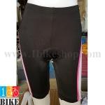 กางเกงปั่นจักรยานขาสั้น Giant สีดำชมพู