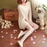 รองเท้าส้นแบนผู้หญิงสีเบจ หุ้มส้น หัวแหลม ฉลุลาย ใส่แล้วเท้าเล็ก แนวหวาน น่ารัก แฟชั่นเกาหลี