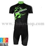 ชุดจักรยานแขนสั้น Merida 2015 สีดำเขียว(01)