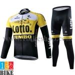 ชุดแขนยาว Bianchi Lotto 2015 สีเหลืองดำ