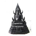 พระพุทธรูปปางมารวิชัย ซุ้มแก้ว ( พระพุทธชินราช ) สีดำ เนื้อเรซิ่น หน้าตัก 5นิ้ว สูง 12 นิ้ว (รวมฐาน)