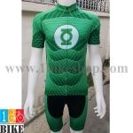 ชุดจักรยานแขนสั้น Super Hero Green Lantern สีเขียว