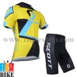 ชุดจักรยานแขนสั้น Scott 2014 สีเหลืองดำ