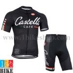 ชุดจักรยานแขนสั้น Castelli 2014 สีดำ