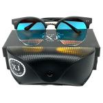 แว่นกันแดด แฟชั่น ทรง WF BLACK&BLUE