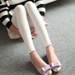 รองเท้าส้นแบนสีม่วง หุ้มส้น หัวแหลมทูโทน ประดับโบว์ ทรงตุ๊กตา น่ารัก สไตล์เจ้าหญิง แฟชั่นเกาหลี