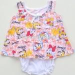 ไซด์ 0-3 เดือน ชุดเด็กอ่อนหญิง ผูกโบว์หน้า Disney สีส้ม
