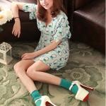 รองเท้าส้นสูงสีขาว หุ้มส้น รุ่นไนท์คลับ มีเข็มขัดรัดข้อเท้า ส้นสูง15.5cm พื้นหนา6cm สวยสง่า ไฮโซ แฟชั่นเกาหลี