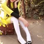 รองเท้าส้นแบนสีดำ ทูโทน หุ้มส้น หัวกลม ประดับโบว์และระบายลายลูกไม้ ทรงตุ๊กตา น่ารัก แฟชั่นเกาหลี