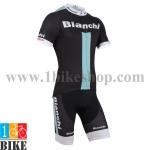 ชุดจักรยานแขนสั้น Bianchi 2015 สีดำเขียว