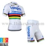 ชุดจักรยานแขนสั้น Lampre 2014 สีขาว