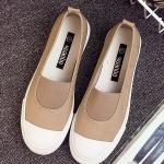รองเท้าผ้าใบผู้หญิงสีเหลือง แบบสวม แฟชั่นมาใหม่ น่ารัก ไม่ซ้ำใคร แฟชั่นเกาหลี
