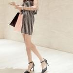 รองเท้าส้นสูงสีดำ รัดส้น หัวแหลม เข็มขัดรัดข้อเท้า ส้นสูง8.5cm แนวหวาน เจ้าหญิง สไตล์แฟชั่นเกาหลี