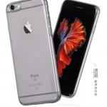 iPhone 6, 6s - Hoco เคสใส Tpu ( สีดำใส )