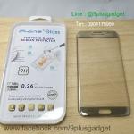 ฟิล์มกระจกนิรภัย Galaxy S7 Edge ยี่ห้อ P-one ( เต็มจอ )