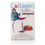 Donut Collagen 10000 mg โดนัท คอลลาเจน 10000 มก. รสมิกซ์เบอร์รี่ (10 ซอง/กล่อง) ตรลับความสวย คอลลาเจนนำเข้าจากประเทศญี่ปุ่น พร้อมด้วยอินูลิน สารสกัดจากชาเขียว แครนเบอร์รี่ ฯลฯ ทำให้ผิวพรรณมีความยืดหยุ่น กระชับและช่วยให้ผิวอุ้มน้ำได้มากขึ้น ผิวมีความชุ่มชื
