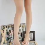 รองเท้าส้นสูงสีชมพู แบบส้นหนา ทรงรองเท้าตุ๊กตา หัวกลม ประดับโบว์ ส้นสูง8cm แฟชั่นเกาหลี