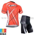 ชุดจักรยานแขนสั้น FOX 2014 สีแดง