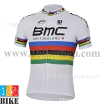เสื้อปั้นจักรยาน BMC 2015 สีขาว
