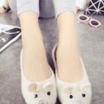 รองเท้าคัทชูส้นแบนสีขาว แนวแฟนซี ทรงหนู น่ารัก เก๋ไก๋ แฟชั่นเกาหลี