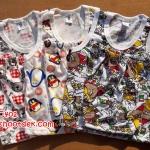 ชุดเสื้อกล้ามS ประมาณ 3-12ด. ผ้าคอตตอนพิมพ์ลาย 3ชุด 155บ.