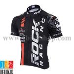 เสื้อปั้นจักรยาน Rock_Racing 2015 สีดำแดงขาว