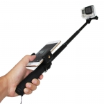 GoPro monopod with phone clip mount