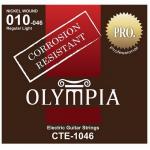Olympia สายกีตาร์ ไฟฟ้า ชุด Guitar Electric Coated String Set CTE-1046