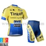 ชุดจักรยานแขนสั้น Tinkoff 2014 สีเหลืองน้ำเงิน