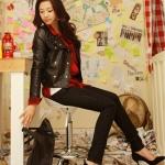 รองเท้าส้นสูงสีดำ หุ้มส้น ส้นเข็ม หัวแหลม ผ้ากำมะหยี่ ส้นสูง9cm แฟชั่นเกาหลี