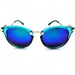 แว่นกันแดดแฟชั่น ดีไซด์เก๋ กรอบสีน้ำเงิน(เรซิน) เลนส์ฟ้า