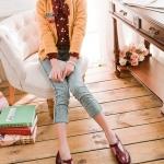 รองเท้าคัทชูผู้หญิงสีแดง ทรงoxford ฉลุลาย หัวกลม มีเข็มขัดรัดข้อเท้า ส้นสูง4cm แฟชั่นเกาหลี