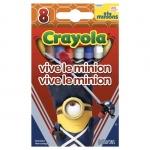 Crayola Vive Le Minion สีเทียนแท่งเล็ก กล่องละ 8 แท่ง ปลอดสารพิษ
